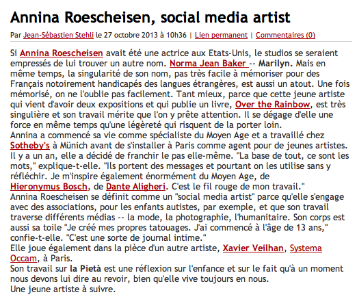 Interview madame Figaro - Blog_stehli_photo sensible_annina roescheisen