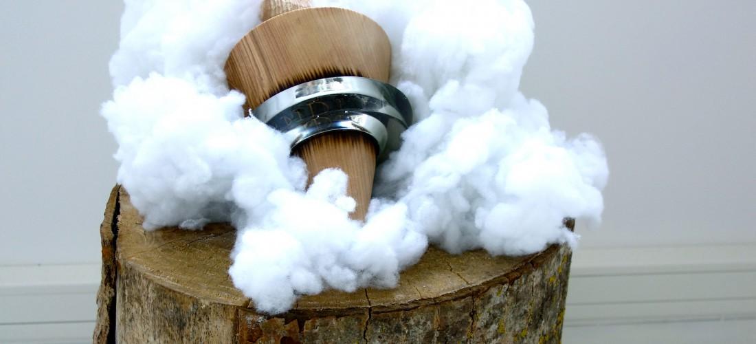 Spinning top sculpture by annina roescheisen