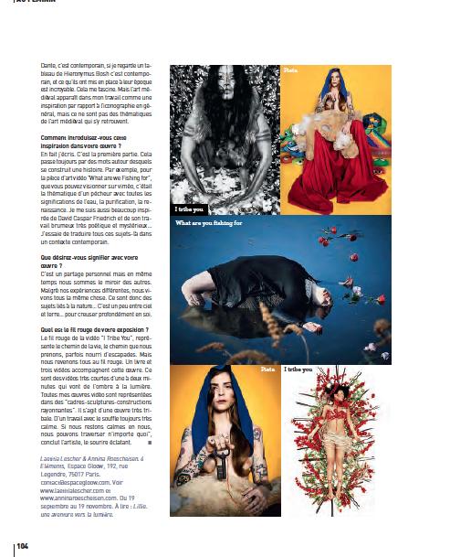 Annina Roescheisen - interview Artist Edgar magazine november 2014 - oct 2014