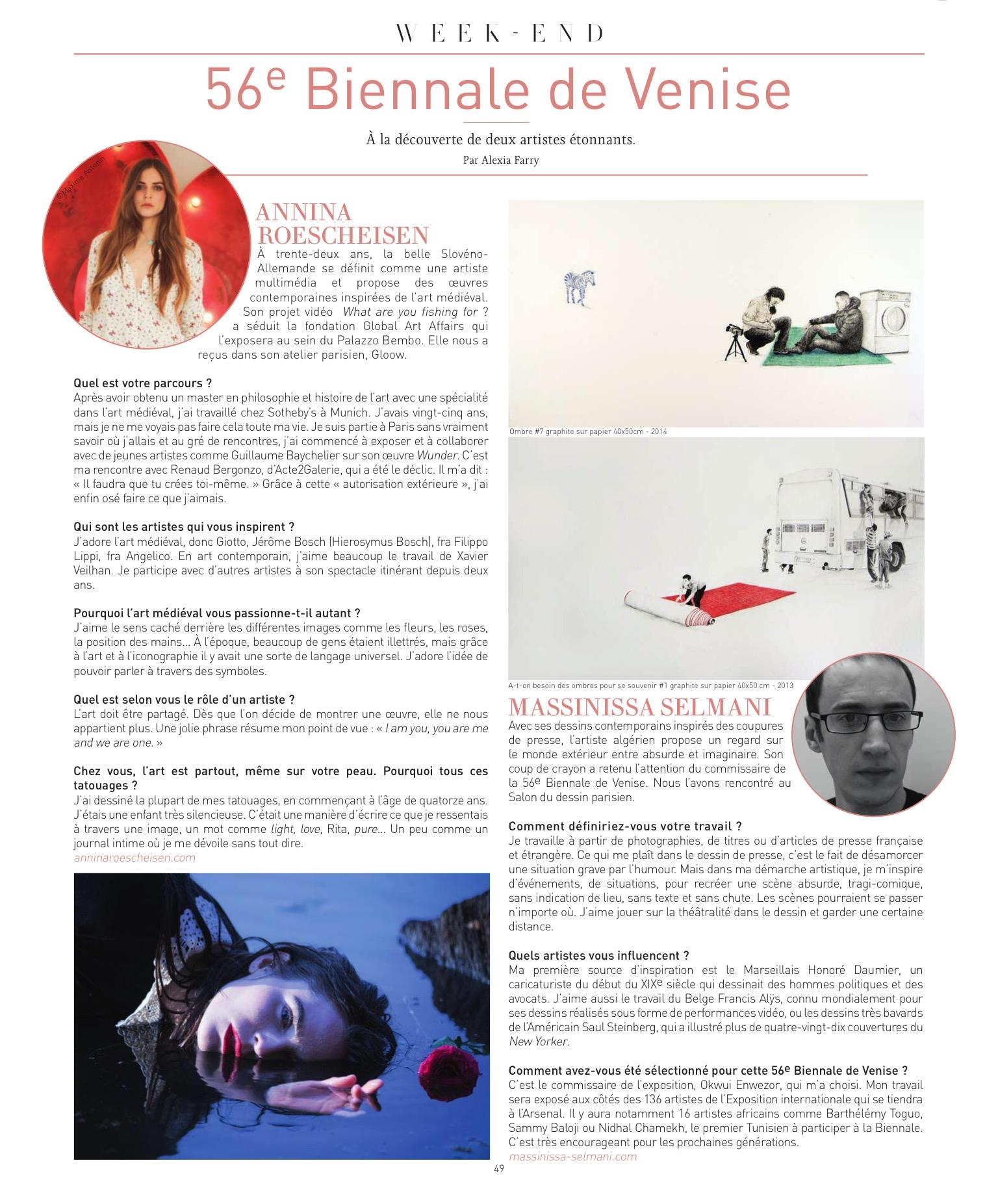 Annina Roescheisen artist interview_ Biennale de Venezia 2015 Infrarouge Magazine_