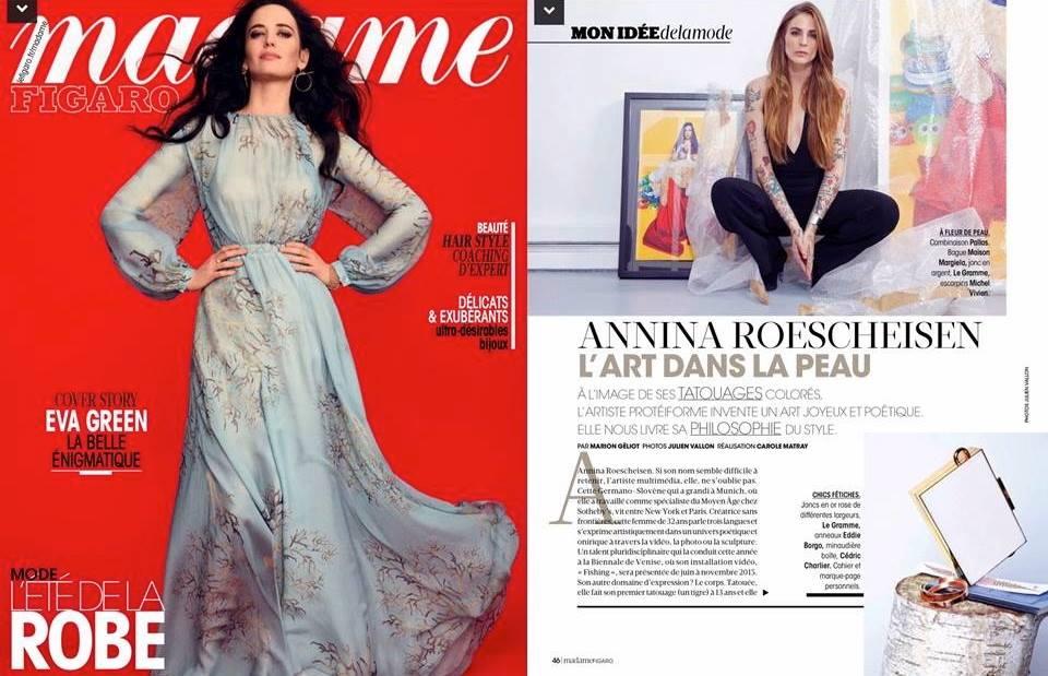 Madame Figaro Annina Roescheisen artist interview