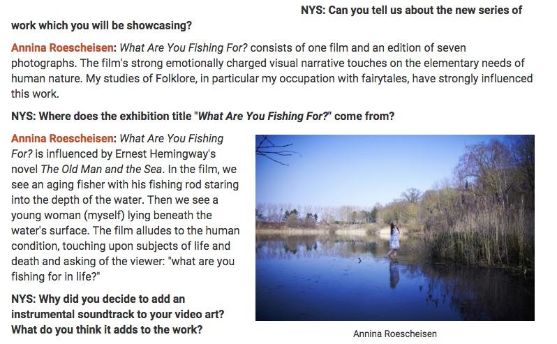 4 1 NY Spaces Magazine - interview german contemporary artist Annina Roescheisen