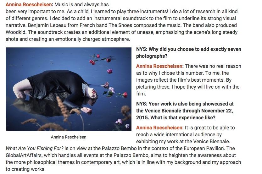 5 1 NY Spaces Magazine - interview german contemporary artist Annina Roescheisen