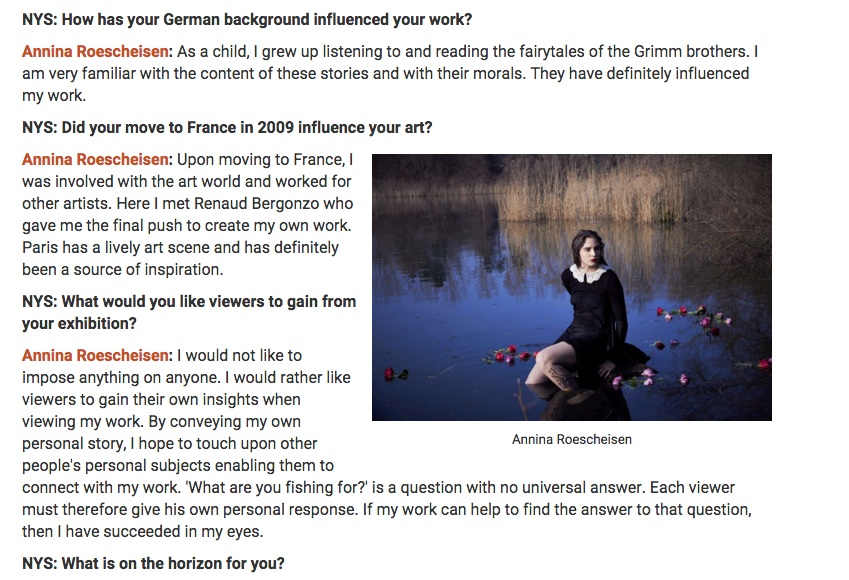 6 1 NY Spaces Magazine - interview german contemporary artist Annina Roescheisen