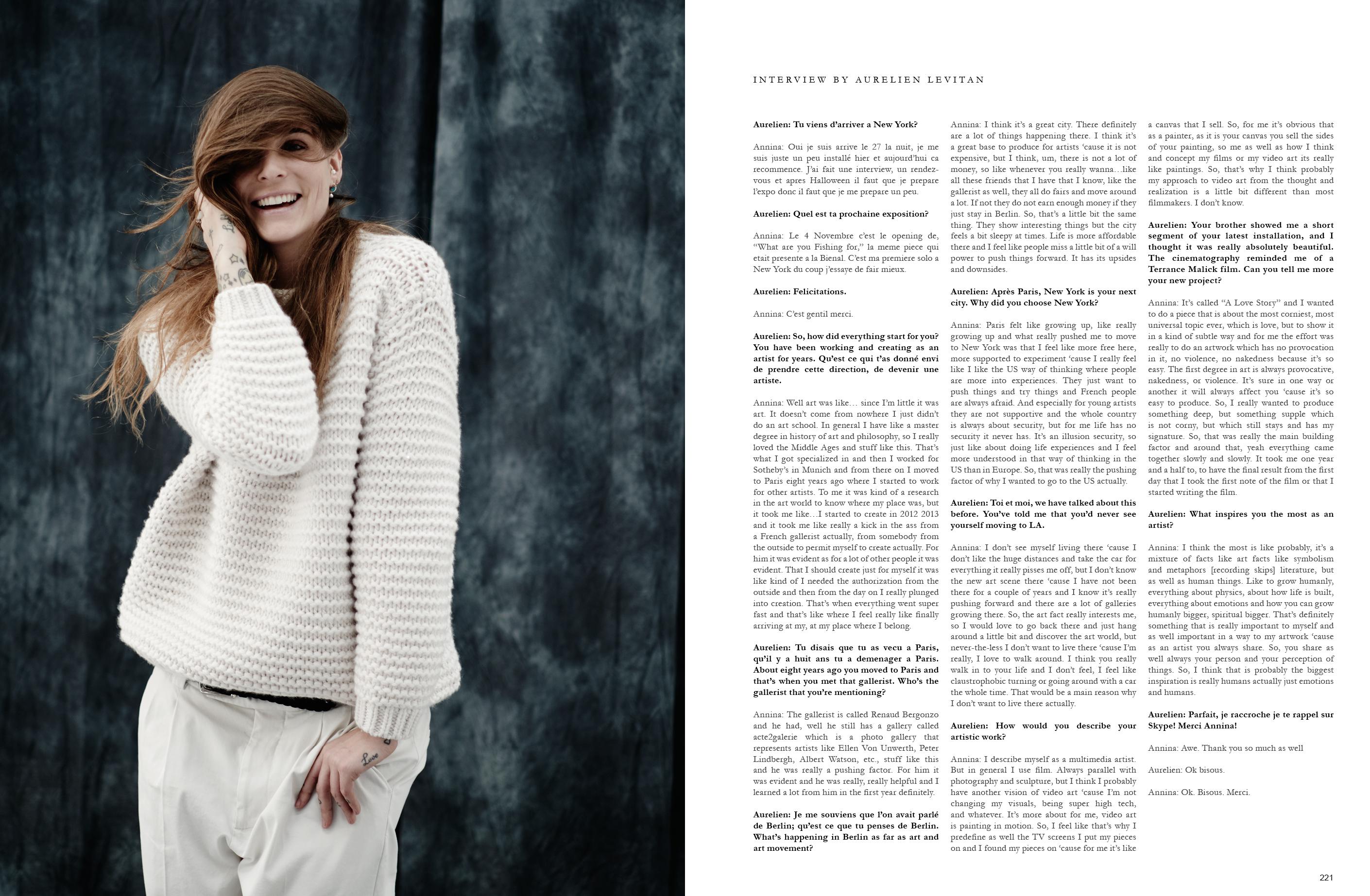 _Annina Roescheisen - Artist Interview Damaged Goods magazine - 2016