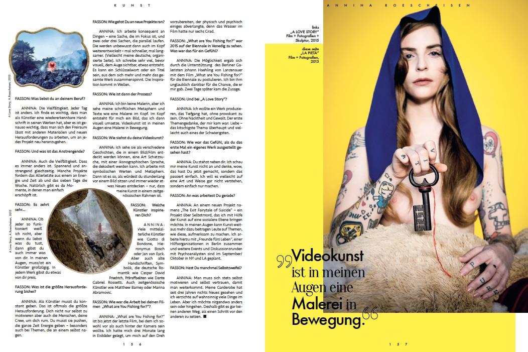 Annina Roescheisen - Interview Künstlerin