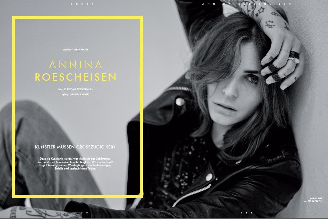 Annina Roescheisen interview - Künstler müssen grosszügig sein