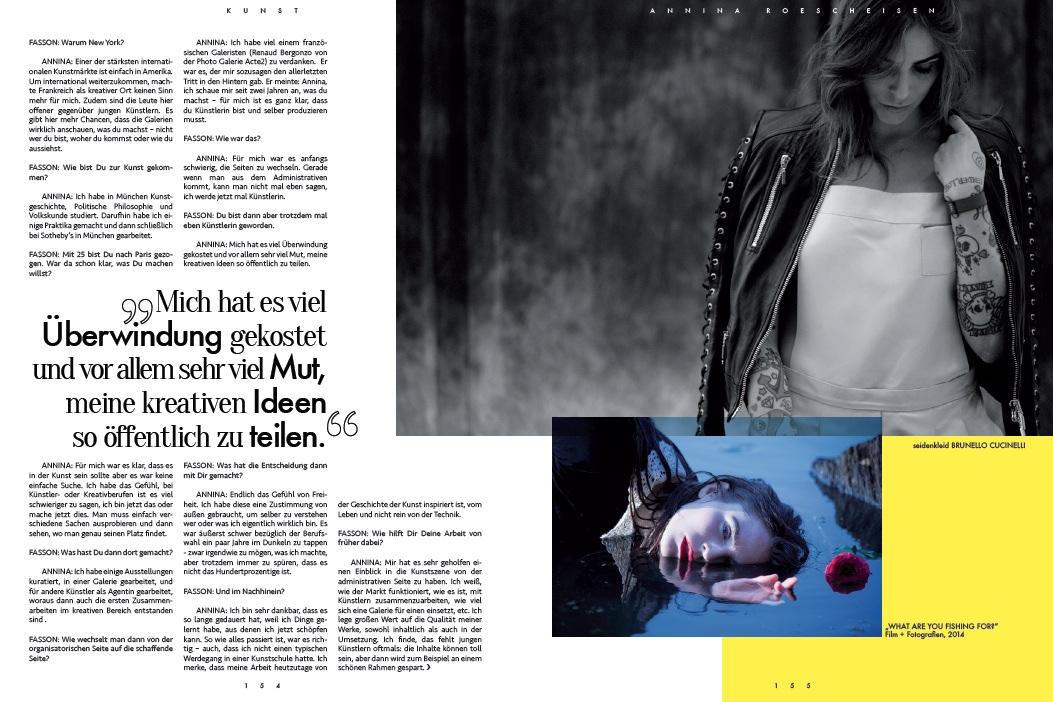 Interview Künstlerin Annina Roescheisen
